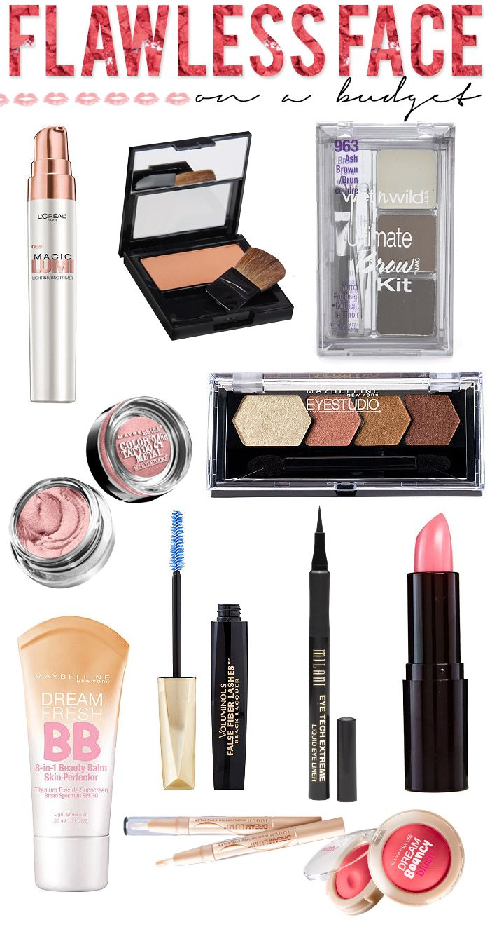 Flawless Face: On A Budget! A start to finish look with all drugstore products! Perfect for Summer! #beauty #makeup