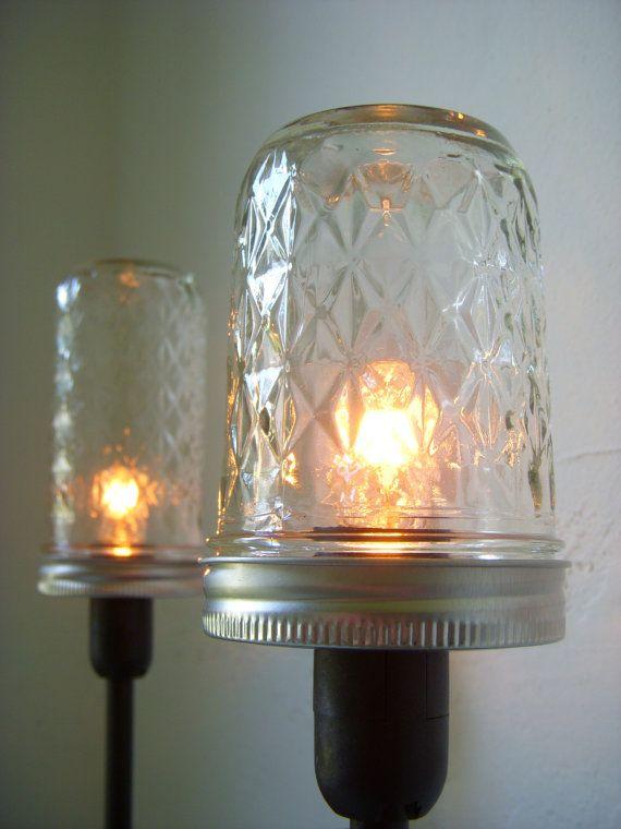 Mason Jar Lighting Mason Jar Table Top Lamp Rustic Industrial
