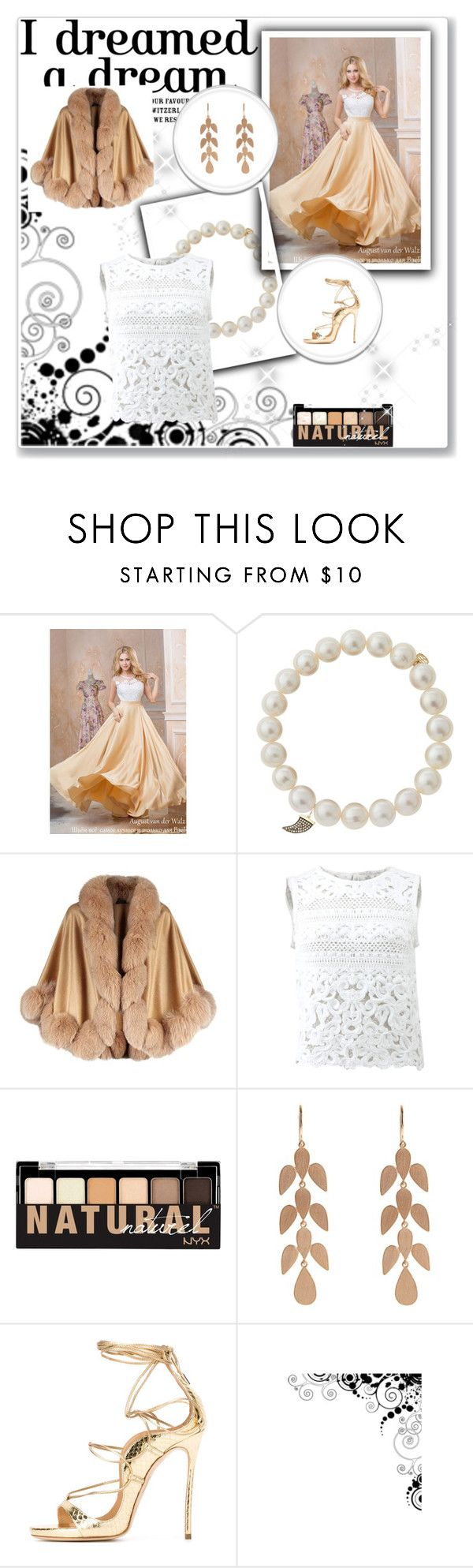 """""""Noche fria"""" by amanda-regolini ❤ liked on Polyvore featuring Sydney Evan, Harrods, Ermanno Scervino, NYX and Irene Neuwirth"""