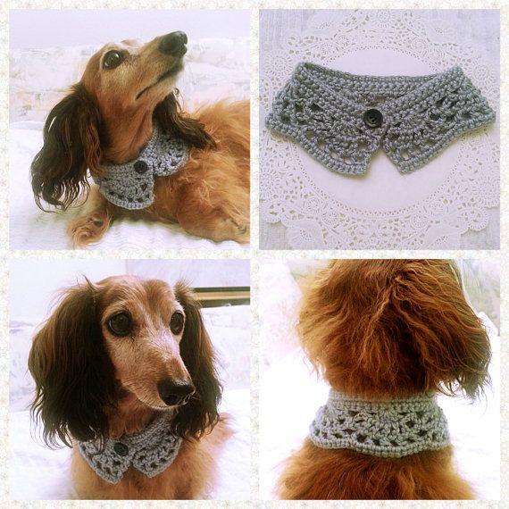 Perro de ganchillo bufanda, Collar de perro, perro Bandana, perro de chimenea…