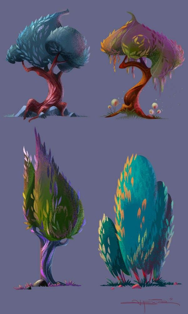 -Tree ref, we like the swirls and painty, leafy texture Light and colour Study | Alexia Tryfon