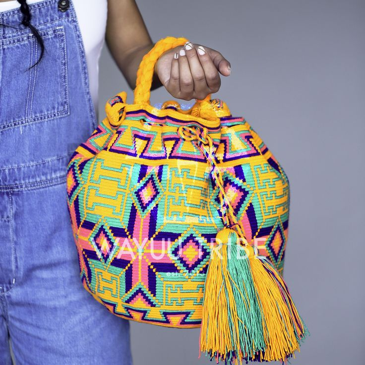 New Limited Edition Handmade #WayuuBags woven by one Thread with handwoven Handles & Shoulder Strap. Limited Quantity. Get yours at www.wayuutribe.com
