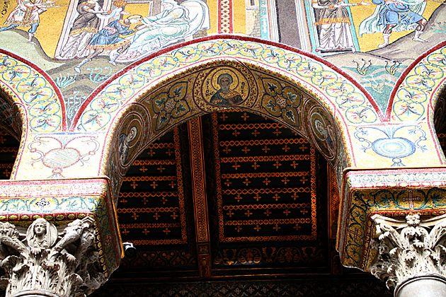 Christmas Sicily - Кафедральный  собор  в  Монреале,  Палермо,  Сицилия.  Duomo di Monreale или Santa Maria Nuova) .