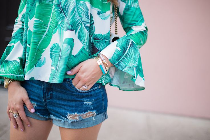 Palm Print Top / Arm Party / David Yurman
