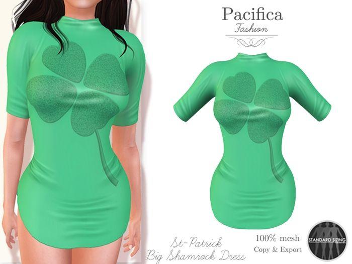 Pacifica Fashion - St-Patrick Mesh Dress [Kitely Market]