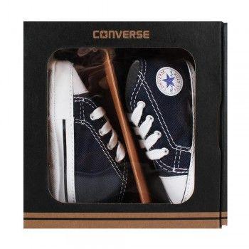Converse 88865 Baby Chuck Krabbelschuhe First Star Hi Geschenkbox navy