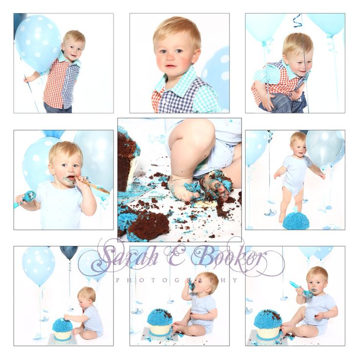 Plain white background for cake smashes are very popular with multiple balloons x