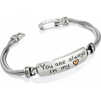 """Awwwwww......my honey gave me this """"just because"""".....yep, he can't get rid of me now.....nope...don't try it.....lol.... In My Heart ID Bracelet  available at #Brighton #winourhearts"""