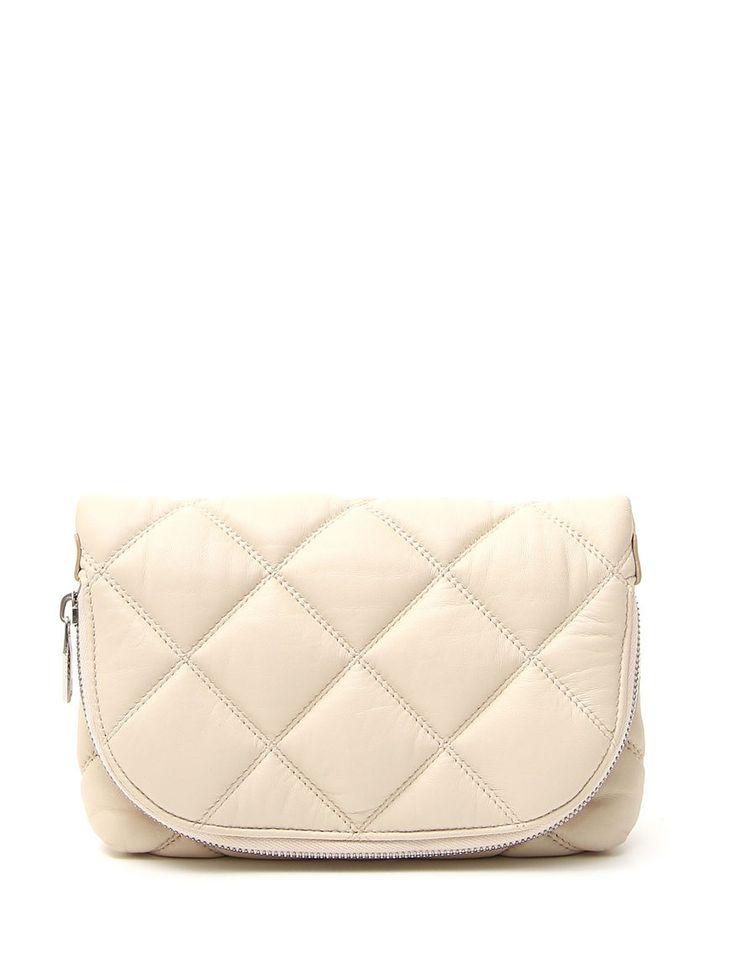 #borsa mini in pelle trapuntata con tracolla a catena removibile. €219 #diffusionetessile #curvyfashion #PE16 #moda #fashion