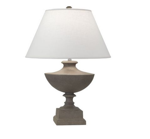 Faux Dark Limestone Urn Lamp