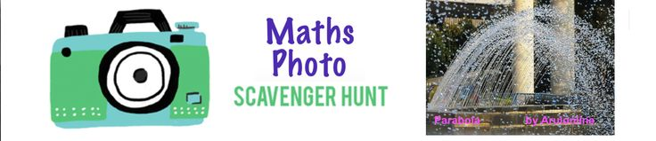 Math is scary. Try this fun project. Go on a Math Photo Scavenger Hunt