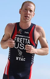 The 35-year-old had been atop the International Triathlon Union rankings in 2006 but has forfeited all results since August 18, 2010, including 15 races on the ITU level as well as a triumph in the 2010 Chicago Triathlon. Fretta had been part of the US Triathlon 2012 elite program and his disqualification starts from the day USADA collected its first blood sample from him used in its longitudinal blood profile. His four-year ban began on June 11, 2012.
