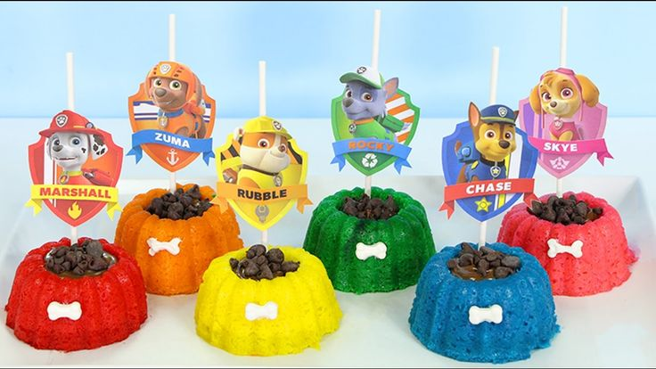 How to Make PAW PATROL Mini Cakes | Great for Dog Lovers | Kids Toys - YouTube