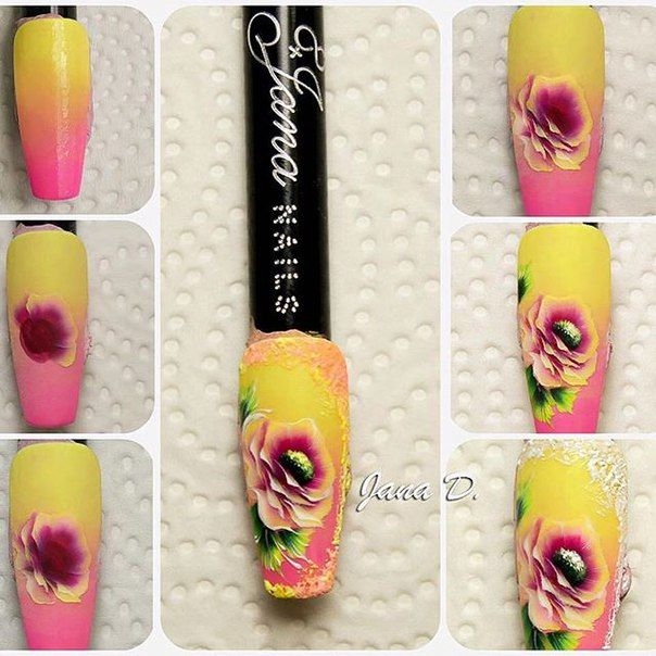 121 best One stroke nail design images on Pinterest | Nails design ...