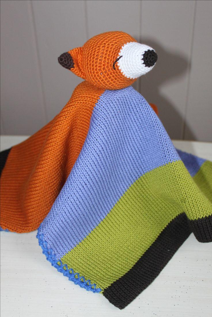 Crochet Fox lovey mini blanket 100% COTTON #lovey# crochet fox# fox lovey blanket# fox baby blanket