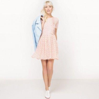 Rochie de damă cu mânecă scurtă MADEMOISELLE R  - print