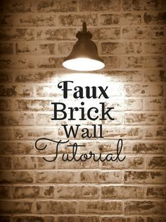 How to build a faux brick wall, exposed brick look, DIY, project, feature wall, faux brick wall, brick wall, accent wall