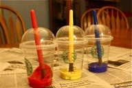 Paint and paint brush holders