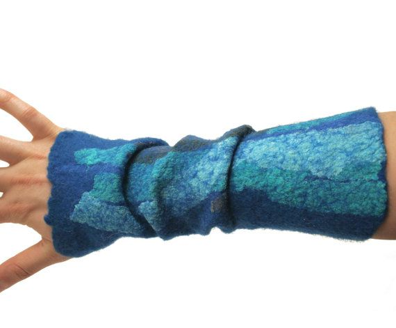 wrist warmers felted arm warmers  spring fashion by vilnone, $34.00: Felted Arm, Design Inspiration, Painting Art, Warmers Spring, Spring Fashion, Wrist Warmers, Arm Warmers, Warmers Felted