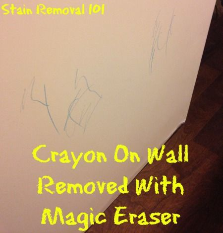 Crayon removal from wall with Magic Eraser {on Stain Removal 101}