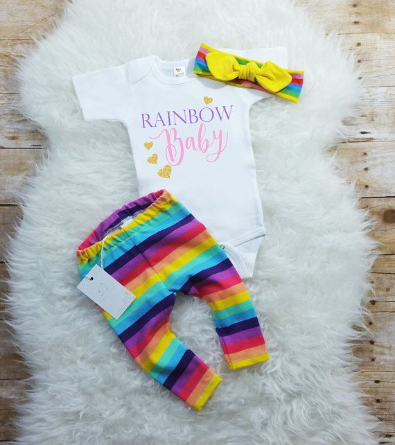 Baby Girl Coming Home Outfit Rainbow Baby Newborn Baby Girl