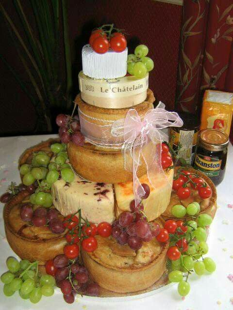 Cheese and pork pie wedding cake