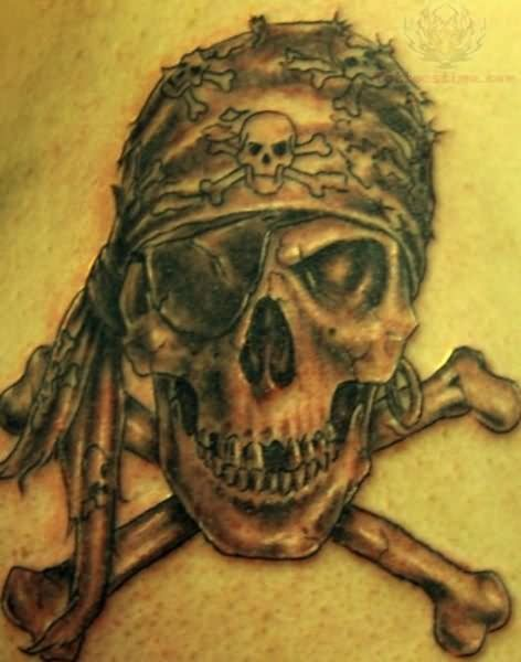 Showing picture: Pirate Skull Tattoo