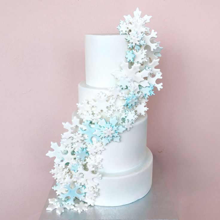 Snow Cake #snow #cake #cakedesign #social #winter