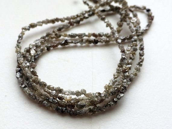 Grey Raw Diamonds Tumbles Grey Diamond Fancy Long by gemsforjewels