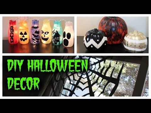 DIY HALLOWEEN DECOR IDEAS (Pinspiration) - HowToByJordan - YouTube