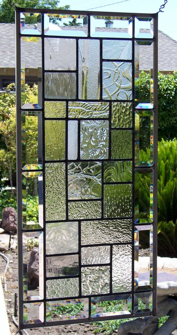 Textured Art Glass Sampler Stained Glass Window by DebsGlassArt, $145.00