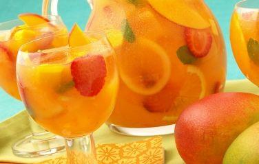 Sparkling Mango Strawberry Sangria   mango
