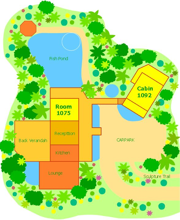 layout of this daintree accommodation