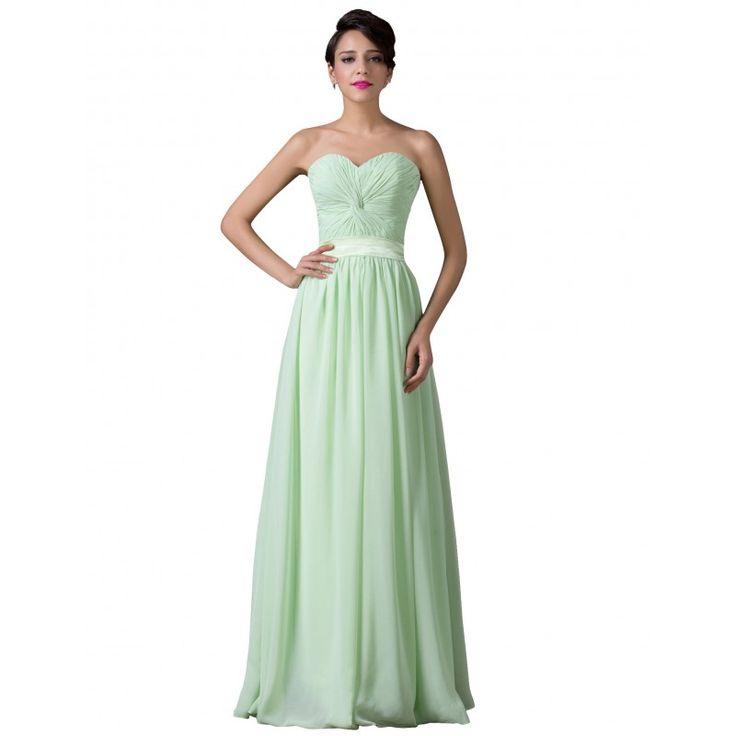 Zelené spoločenské šaty CL6238
