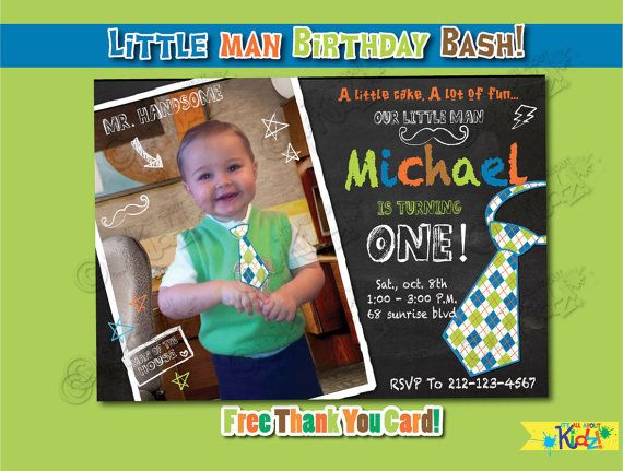 24 best Bubbas christening ideas images – Little Man Birthday Party Invitations