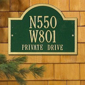 exterior homescapes. whitehall products wisconsin special plaque - three line exterior homescapes