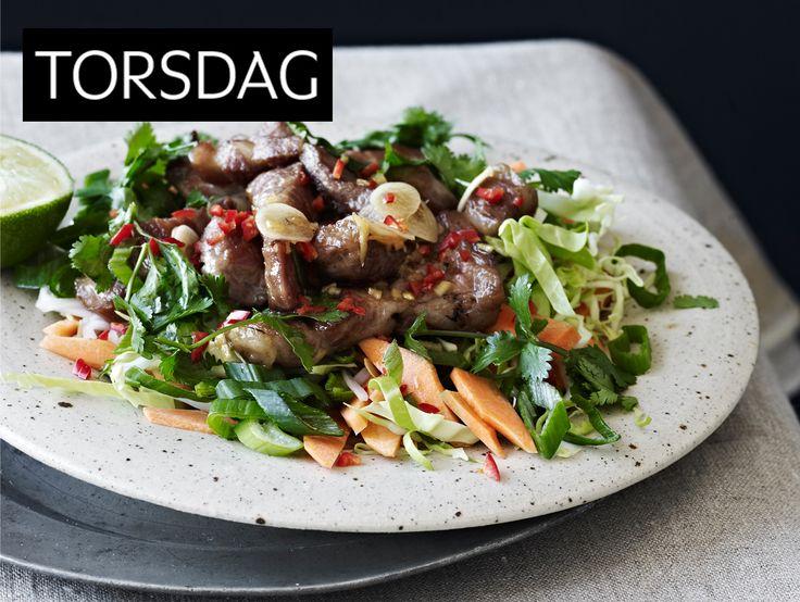 ukens matplan: Hot salat med svinekjøtt - KK.no