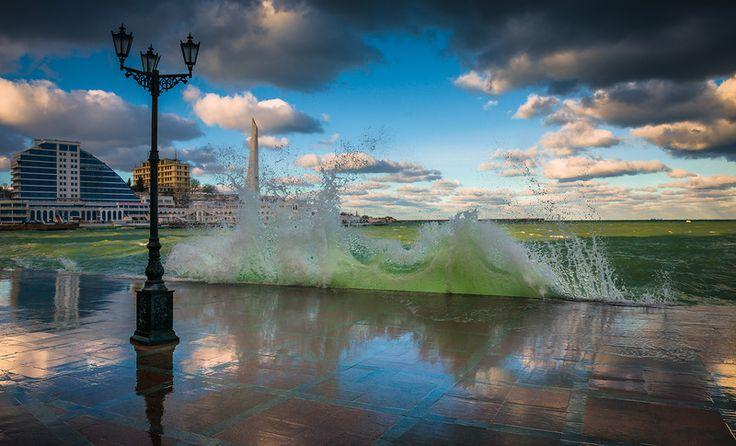 Зимний шторм Севастополя