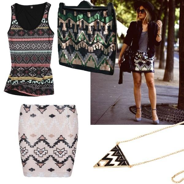 Aztec patterns.
