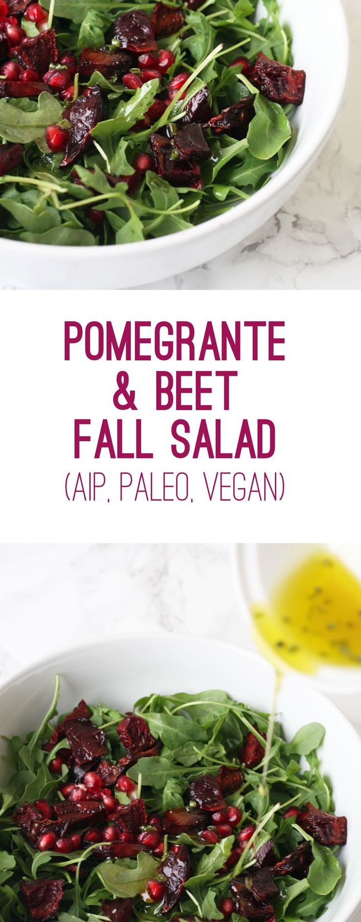 Pomegranate Beet Fall Salad (AIP, Paleo, Vegan)