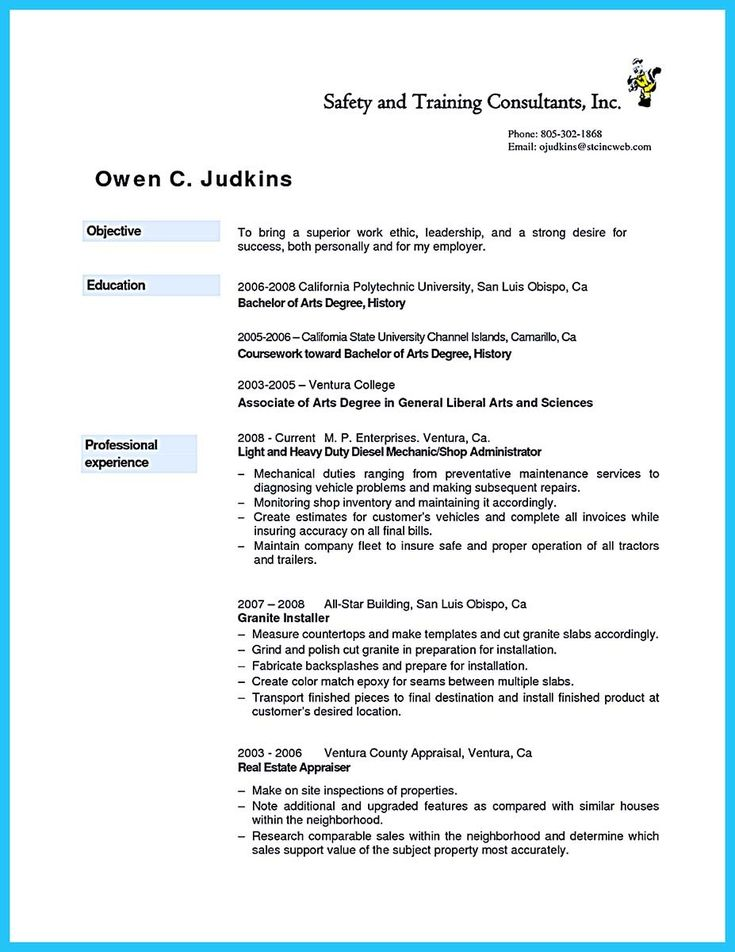 cool Writing Your Great Automotive Technician Resume,