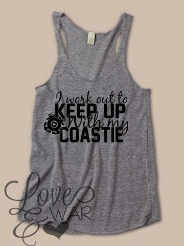 I workout to keep up with my COASTIE racer back tank top - Love & War Clothing