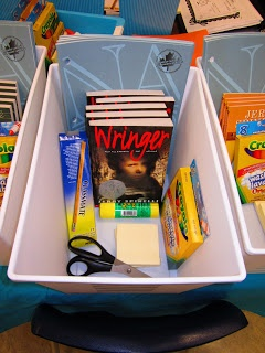 This is a cool way to help with creating book groups based on guided reading levels. Each group would have their own tub filled with different resources. Once a group has finished their book I will refill the tub with new books.