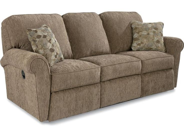 Beige Reclining Sofa Milano Stone Leather Plus Reclining
