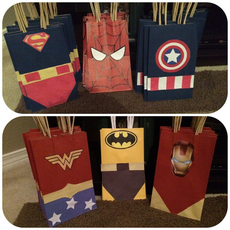 Super Hero Candy Bags