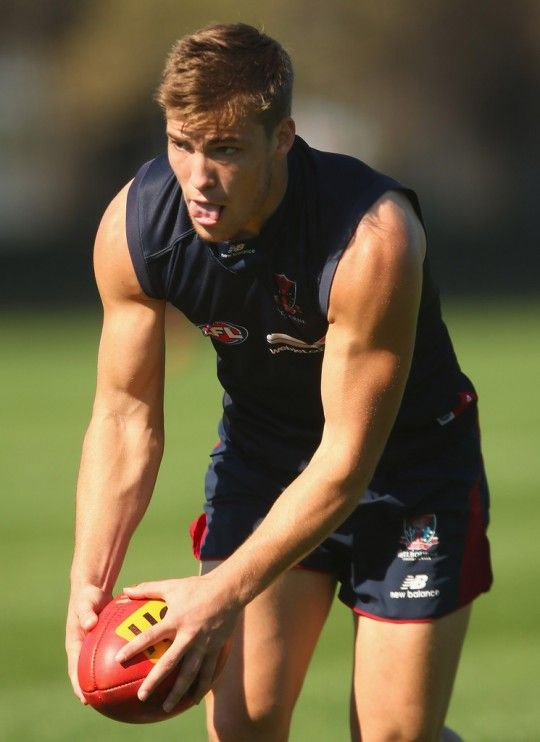 Jack Viney, born 13 April 1994, in Melbourne, Australia, is a professional Australian rules football player at the Melbourne Football Club in the Australian Football League (AFL).