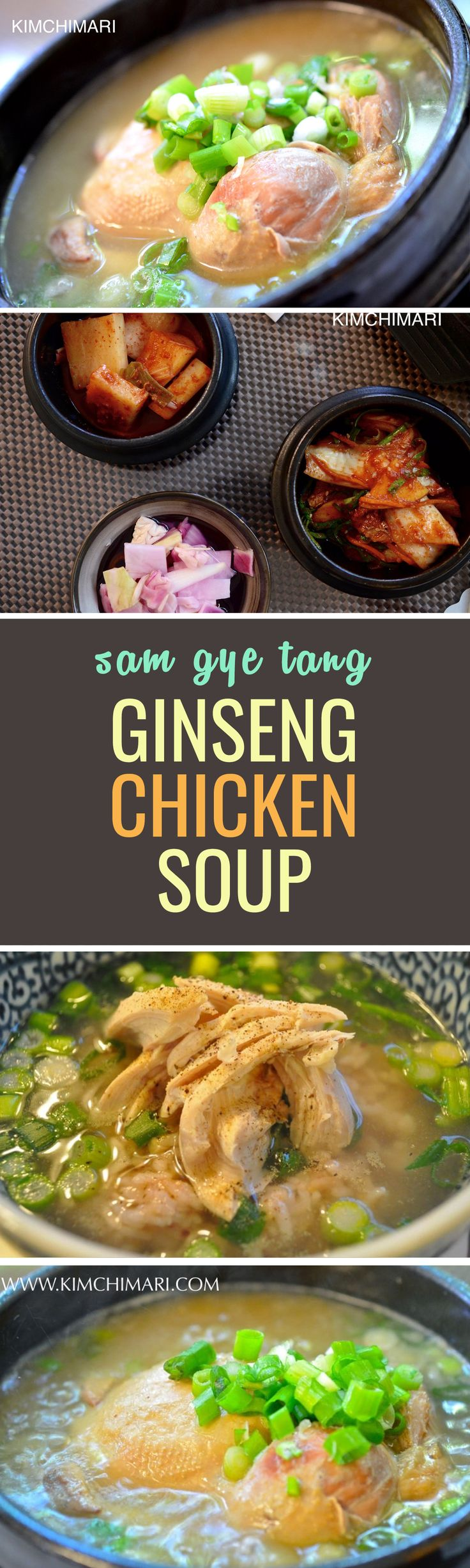 Samgyetang, aka Ginseng Chicken Soup is traditionally a summer dish (what? hot soup in summer?) but it's actually great for a little immunity boost all year round!