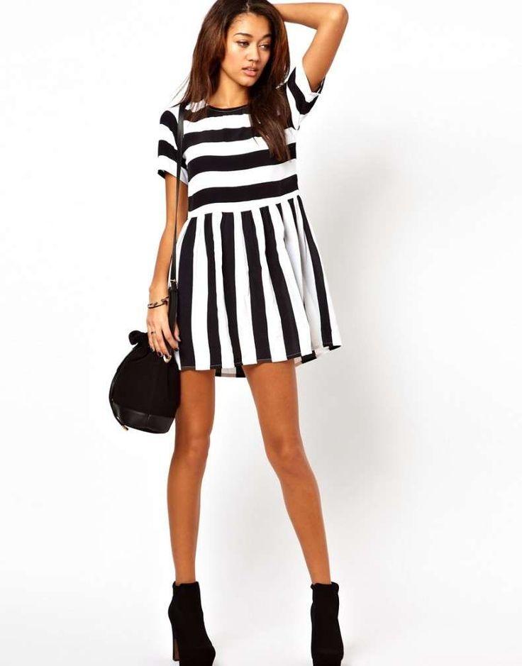 Mini abiti fai da te per l'estate - Mini abito bianco e nero