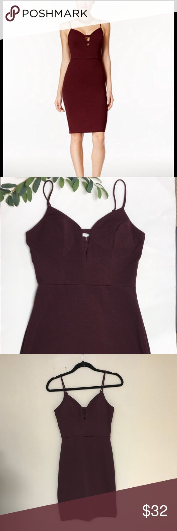 "B Darlin • wine colored dress Super cute and like new! Only worn one time!!  Currently on Macy's website!!  B.Darlin sexy wine colored dress! Perfect for fall season or even the holidays! Would be super cute on its own or with a fur jacket over top!      Size 5/6   Approx measurements:top of bust to hemline- 33"".                      Armpit to armpit 14 1/2"" B Darlin Dresses"