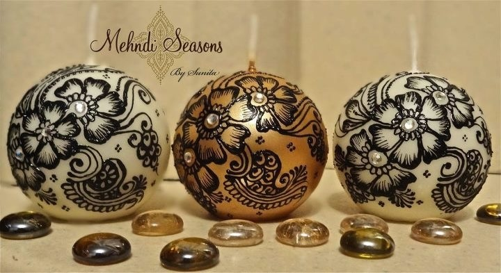 Mehndi Candles Personalised : Images about mehndi seasons personalised candles on
